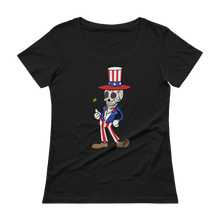 """American Made"" Scoop-neck T-Shirt - Traveller's Print"