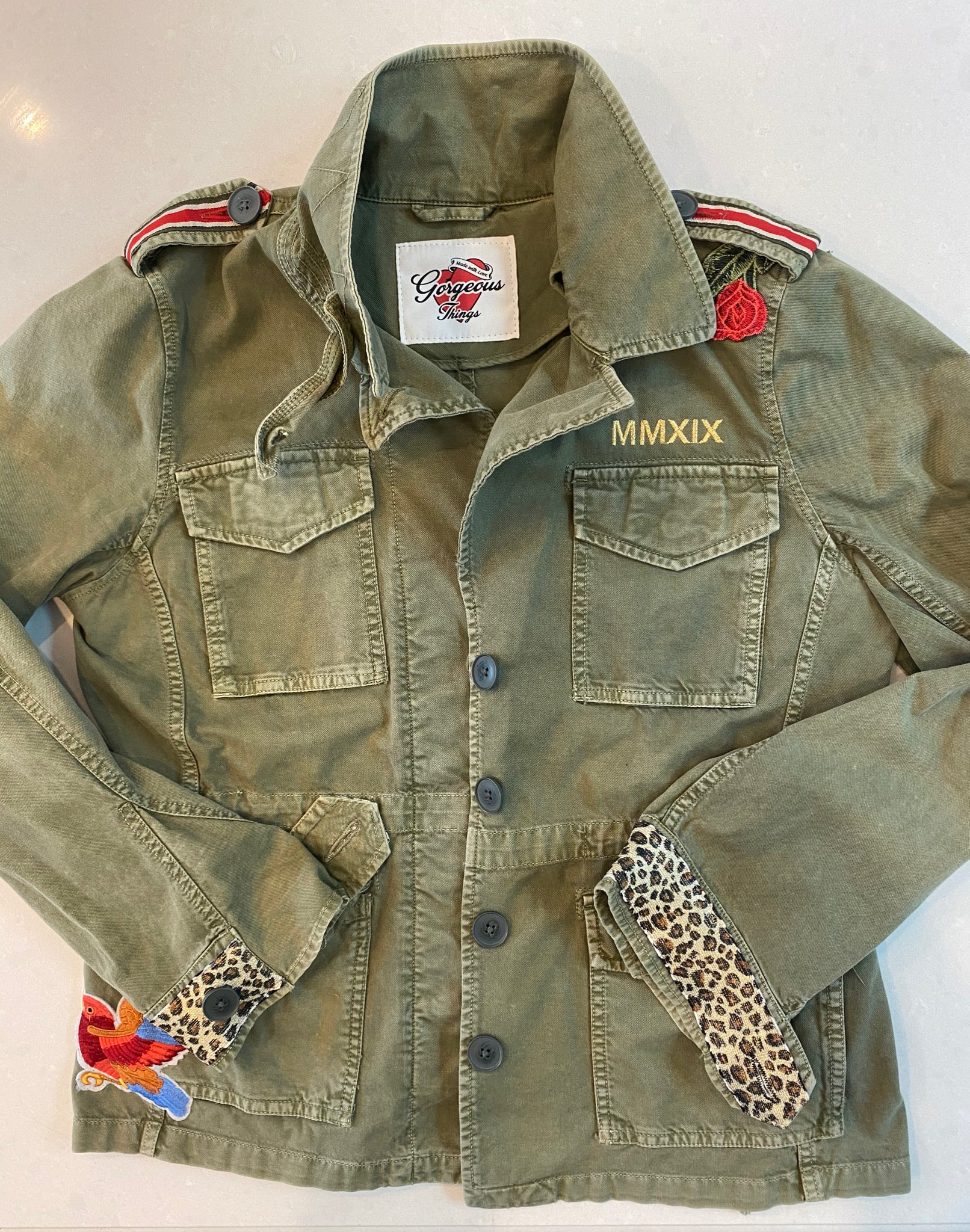 The Fashionista Leopard Army Jacket