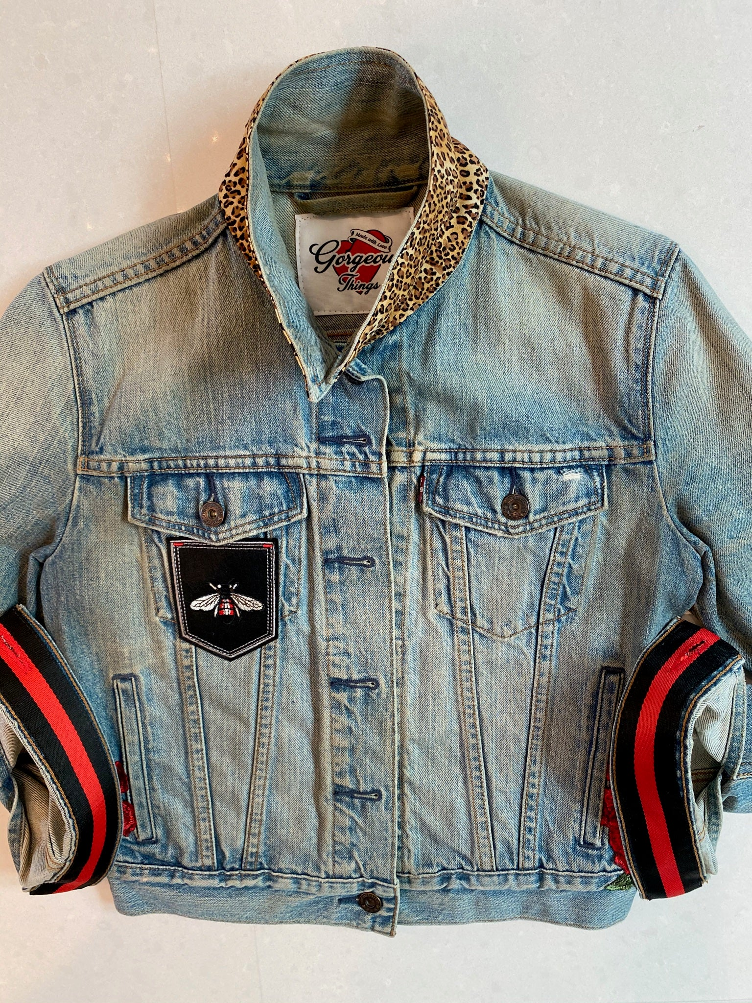 Blessed Leopard Vintage Denim