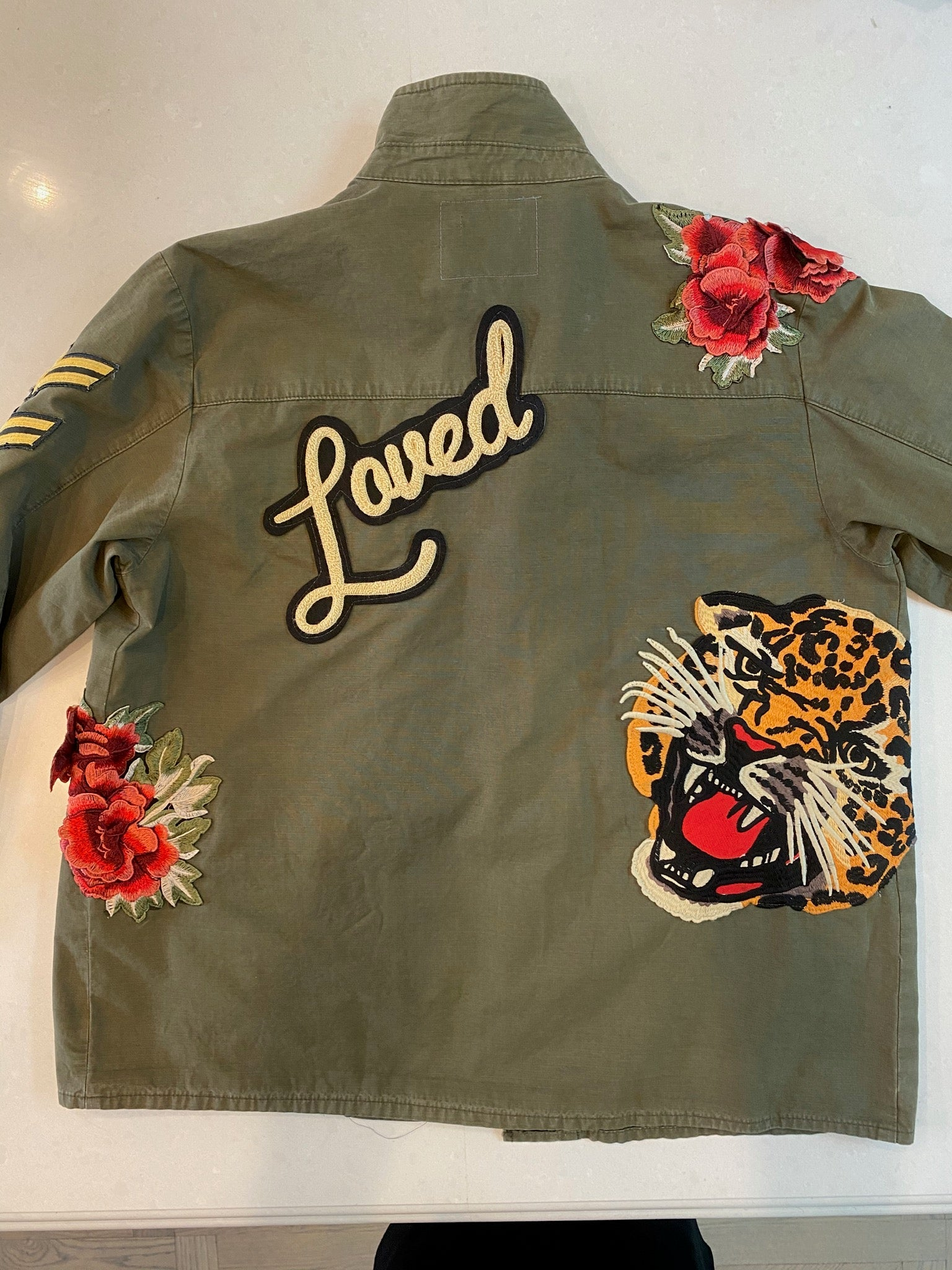 The Loved Army Jacket, Front Stripe