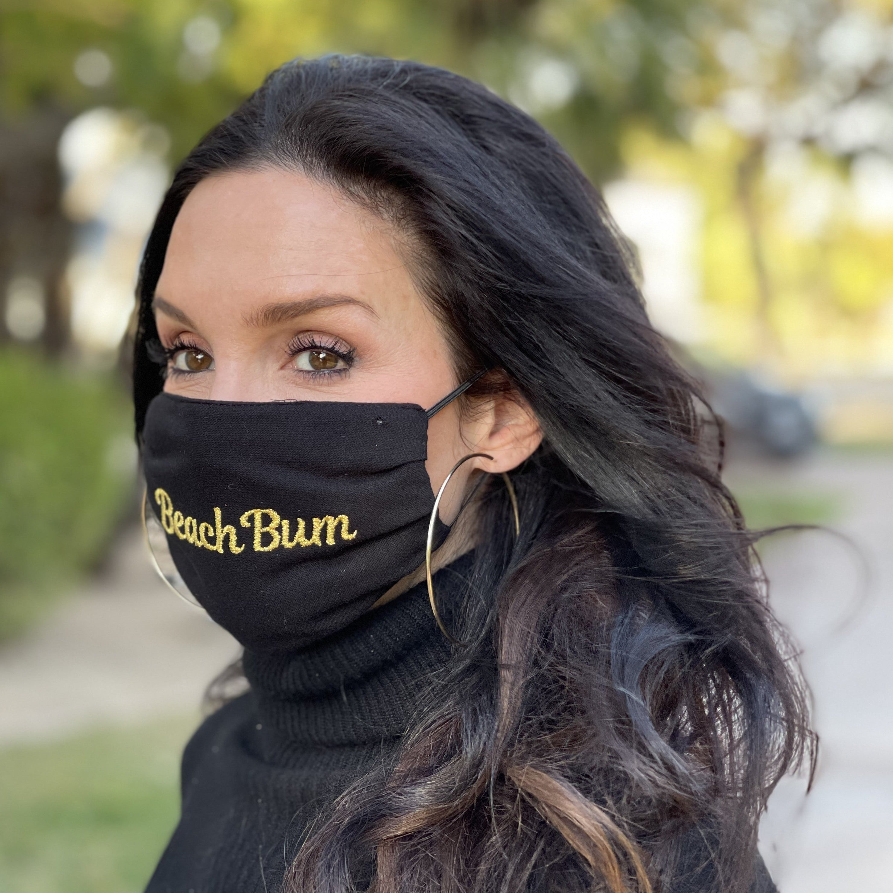 Beach Bum Mask in Black