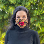 Kiss My Mask in Leopard Print