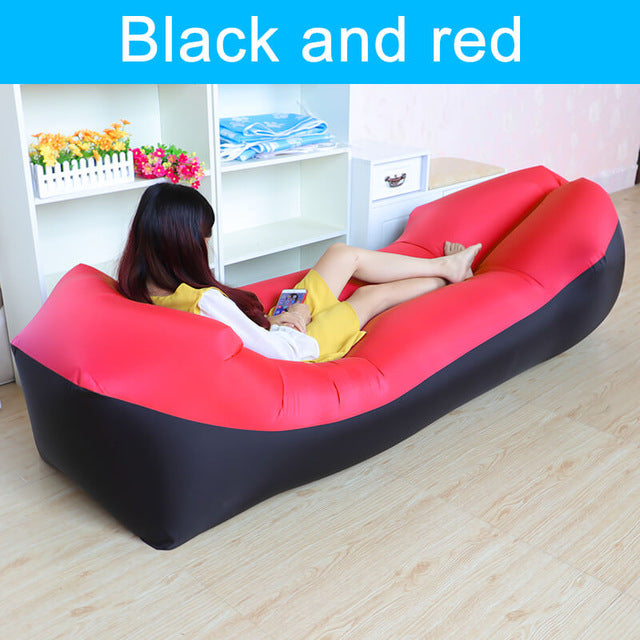 Inflatable Single Bed Double Height