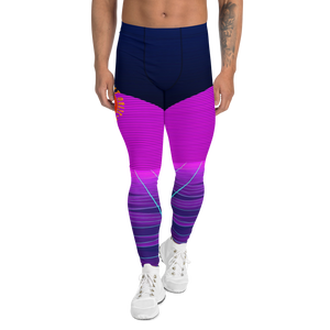 Men's Synthwave Shark Pit Leggings