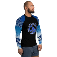 Men's Ranked Shark Pit Logo Rash Guard - Blue Belt