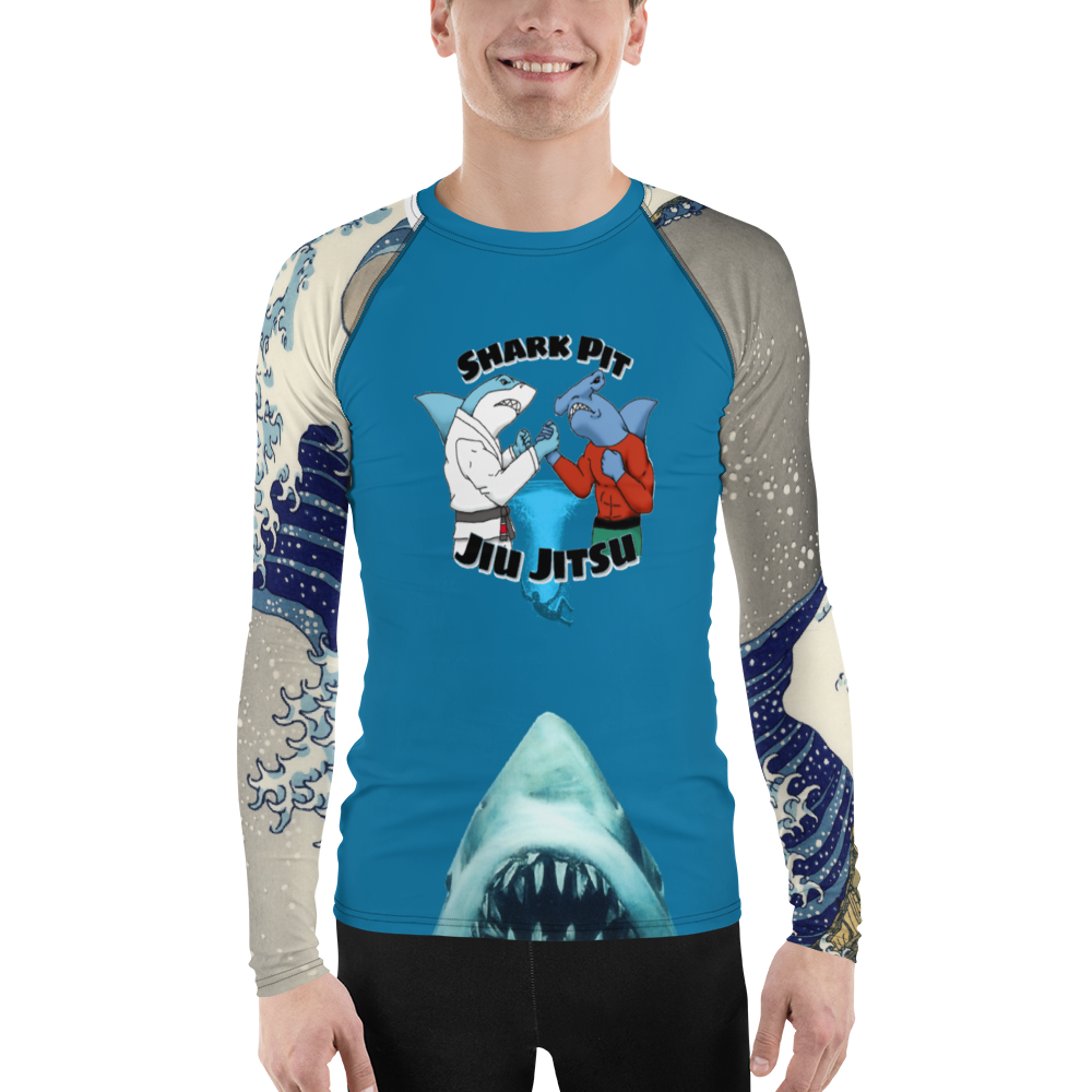 Shark Pit Jiu Jitsu Men's Rash Guard