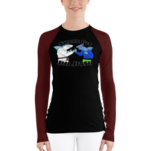 Shark Pit Jiu Jitsu Ranked Women's Rash Guard - Brown Belt
