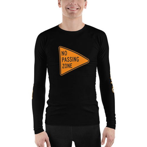 NO PASSING ZONE Men's Rash Guard