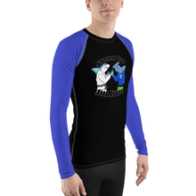 Shark Pit Jiu Jitsu Ranked Men's Rash Guard - Blue Belt