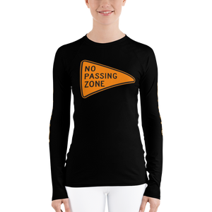 NO PASSING ZONE Women's Rash Guard