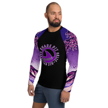 Men's Ranked Shark Pit Logo Rash Guard - Purple Belt