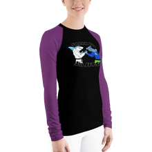 Shark Pit Jiu Jitsu Ranked Women's Rash Guard - Purple Belt