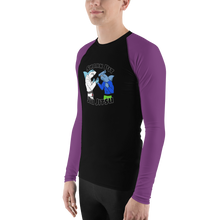Shark Pit Jiu Jitsu Ranked Men's Rash Guard - Purple Belt