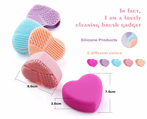 Clean Your Makeup Brushes with Hot Silicone Cleaning Tool