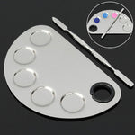 Cosmetic Stainless Steel Makeup Face Palette Spatula Foundation Mixing Tool