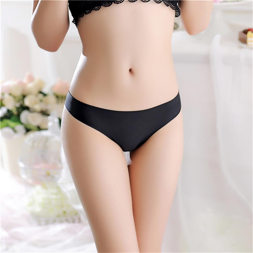 Expose with 1PC Sexy Women G-string Thongs Lace Floral Sheer Low Waist Underwear Soft Lingerie Ice Silk Briefs Seamless Panties