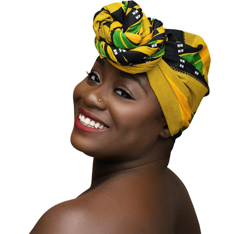 Handcrafted Headwrap & Pocket Square - Portland