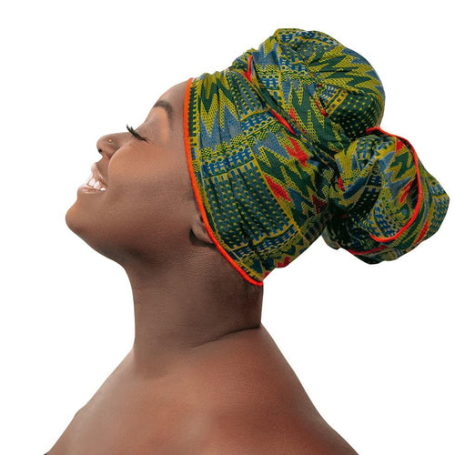 Handcrafted Headwrap & Pocket Square - Seven Miles