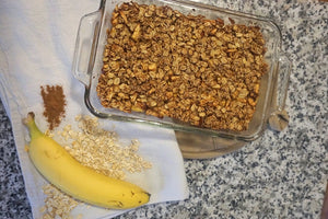 Apple Banana Bake {With Toasted Oat Topping!}