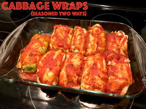 Simple Cabbage Wraps (Seasoned Two Ways)