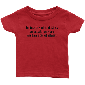 Lettuce Be Kind (Infant & Toddler sizes)