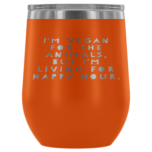 Living For Happy Hour Wine Tumbler