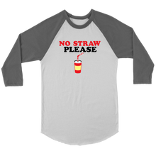 No Straw Please Raglan