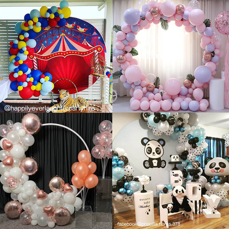 Party & Hoop Balloon Circle Loop Flower Arch Photo Booth Backdrop Stand Round Backdrop
