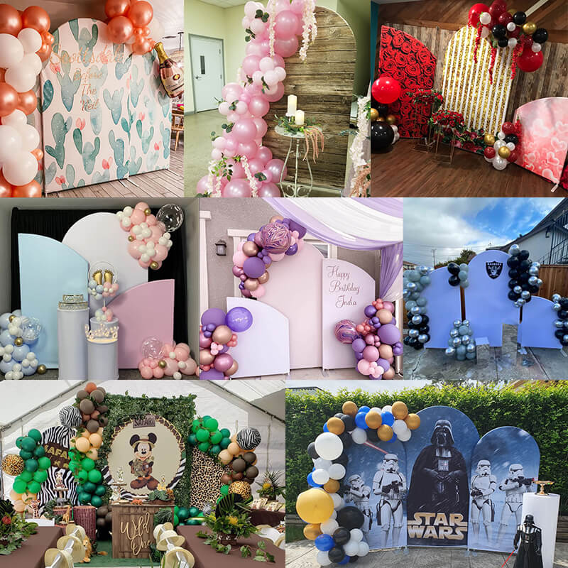 Chiara Arched Backdrop Wall Set, Birthday&Baby Shower&Wedding Party Decoration