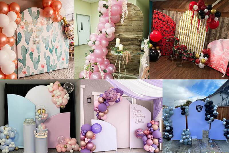 Custom Chiara Arched Wall Backdrop Covers