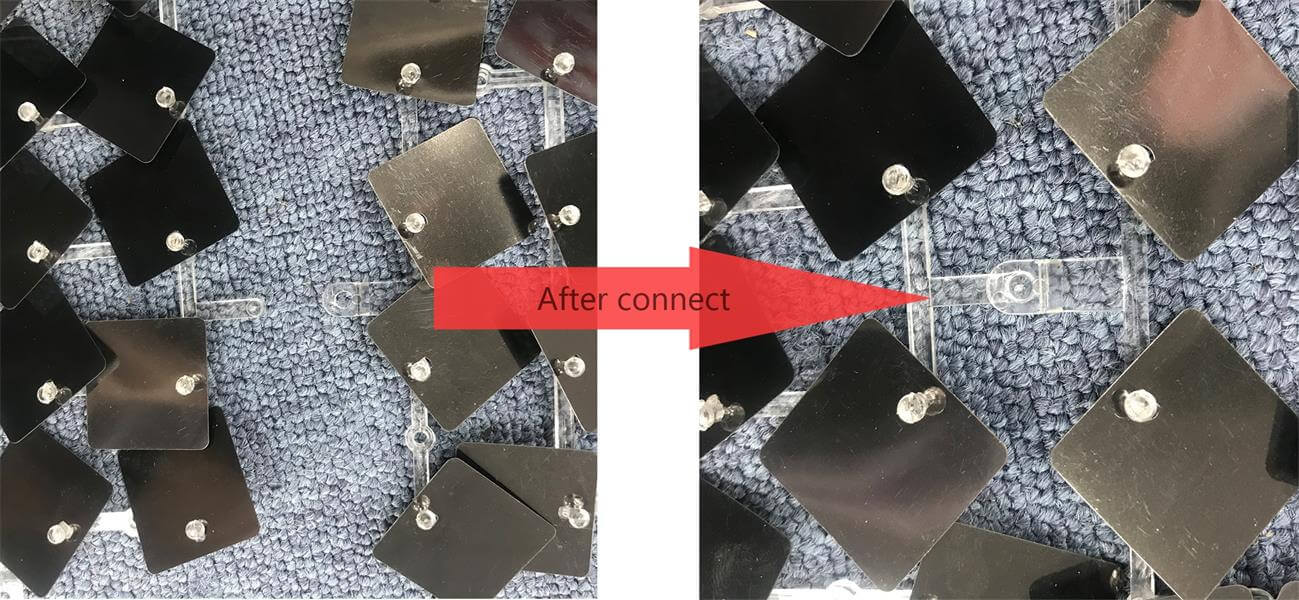 shimmer wall panel connection buckles
