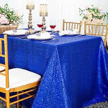 Load image into Gallery viewer, Blue Sequin Tablecloth  Sparkly Tablecloth Sequin Tablecloth