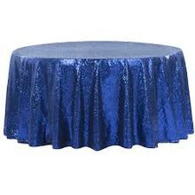Load image into Gallery viewer, Royal Blue Sequin Tablecloth  Sparkly Tablecloth Sequin Tablecloth