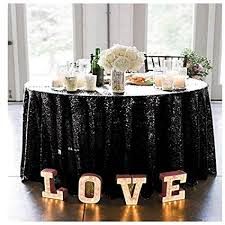 Black Sequin Tablecloth  Sparkly Tablecloth Sequin Tablecloth