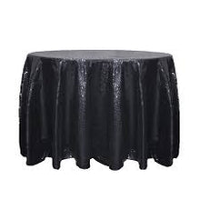 Load image into Gallery viewer, Black Sequin Tablecloth  Sparkly Tablecloth Sequin Tablecloth