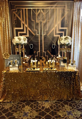 1920s Themed Party Backdrop Black And Gold 30th 40th Birthday Backdrop-[product_tag]-ubackdrop