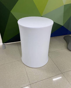 Round Display Cylinder Pedestals, White Party Round Plinths Custom Size Available-[product_tag]-ubackdrop