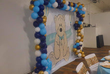 Load image into Gallery viewer, Teddy Bear Backdrop for Baby Shower Its A Boy Teddy Bear Backdrop