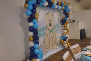 Teddy Bear Backdrop for Baby Shower Its A Boy Teddy Bear Backdrop