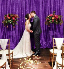 Load image into Gallery viewer, Purple Photography Sequin Fabric Backdrop for Party Prom