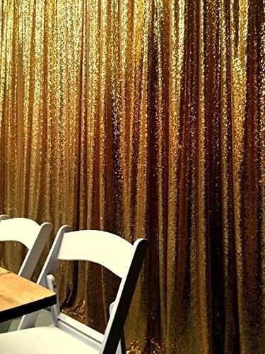 Gold Photography Sequin Fabric Backdrop for Party Prom