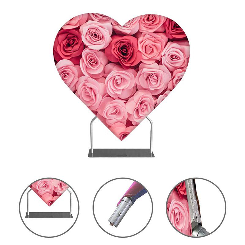 DOUBLE-SIDED HEART SHAPE BACKDROP STAND