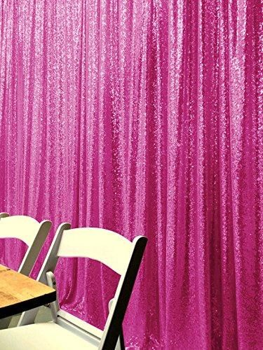 Rose Red Photography Sequin Fabric Backdrop for Party Prom