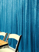 Load image into Gallery viewer, Light Blue Photography Sequin Fabric Backdrop for Party Prom