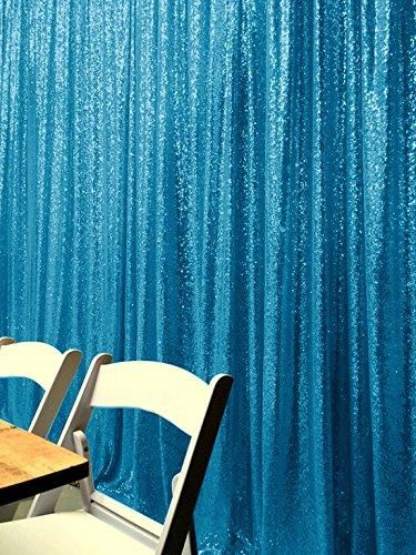 Light Blue Photography Sequin Fabric Backdrop for Party Prom - [product_tag] - ubackdrop