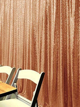 Load image into Gallery viewer, Light Gold Photography Sequin Fabric Backdrop for Party Prom - [product_tag] - ubackdrop