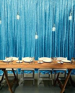 Light Blue Photography Sequin Fabric Backdrop for Party Prom