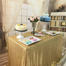Load image into Gallery viewer, Light Gold Photography Sequin Fabric Backdrop for Party Prom