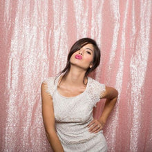 Load image into Gallery viewer, Pink Photography Sequin Fabric Backdrop for Party Prom - [product_tag] - ubackdrop