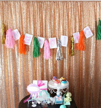 Load image into Gallery viewer, Rose Golden Photography Sequin Fabric Backdrop for Party Prom - [product_tag] - ubackdrop